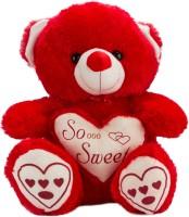 Glitters Glitters Lovely Teddy Bear  - 17 Inch (Red)