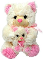 Tokenz Cuddly Pair Teddy Bears  - 13 Inch (Pink, White)