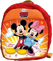 Disney Mickey And Minnie Plush Bag 2.5 L Backpack (Red, Size - 304)