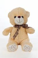 Giftwish Cute Teddy Bear With Ribbon Beige Soft Toy  - 12 Inch (Beige)
