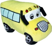 Soft Buddies Plush School Bus  - 4 Inch (Yellow)