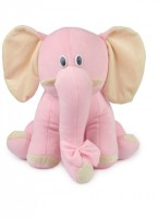 Deals India Elephant Soft Stuffed Toy  - 35 Cm (Pink)