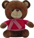 Soft Buddies Bear with Glass  - 13 inch - Brown