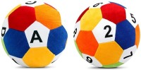 Saugat Traders Soft Ball ABCD & 1234 - 8 Inch (Multicolor)