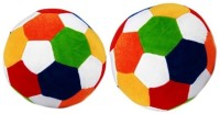 VRV Big Soft Toy Ball Set Of 2  - 22 Cm (Multicolour)