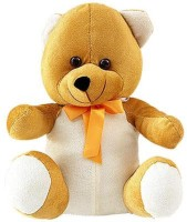 Tokenz Golden Glow Teddy Bears  - 15 Inch (Brown, White)