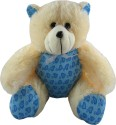 Tabby Very Cute Teddy Bear  - 16 Inch - White, Blue