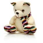 Esoft Soft Toys Esoft Cream Teddy Bear with Muffler 14.4 inch
