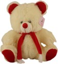 Touchy Toys Teddy  - 12 Inch - White, Red