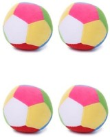 Deals India Soft Toy Ball Set Of 4  - 4 Inch (Multicolor)