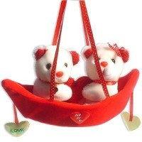 Tokenz Boat Of Love : Teddy Bears  - 12 Inch (Red, White)