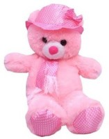 Cuddles Collections Cap Teddy Pink  - 55 Cm (Pink)