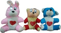 Ekku Rabbit And Mickey Set Of 3  - 5 Inch (Red, Pink, Blue)