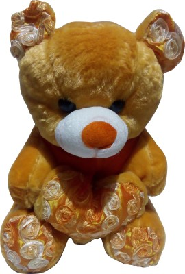 Shopnow Teddy Bear  - 16 Inch (Gold, Orange)