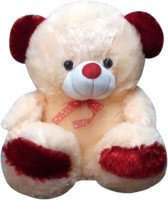 Green Apple Peach & Red Teddy Bear  - 18 Inch (Beige, Red)