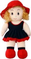Hugg Deep Neck Doll  - 24 Inch (Blue, Red)