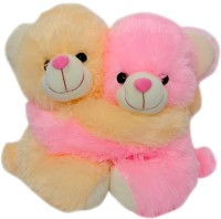 Saugat Traders Couple Teddy Bear - 8 Inch (Pink, Yellow)