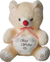 GRJ India 10 Inches Teddy Bear With Heart  - 10 Inch (Beige)