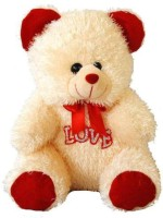 Tokenz Innocent Love Teddy Bears  - 13 Inch (Beige, Red)