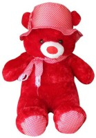 Ktkashish Toys Kashish Red Cap Teddy Bear  - 18 Inch (Red)