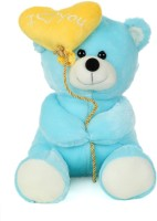 Giftwish Soft Stuff Cute Teddy Bear With I Love You Heart Ballon Blue Soft Toy 27cm- H  - 27 Cm (Blue)