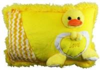 Deals India Duck Soft Pillow  - 40 Cm (Yellow)