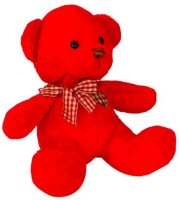 HMS Hms Stuff Red Teddy Bear With Heart Check Soft Toy - 18 Cm  - 18 Cm (Red)