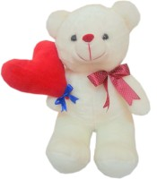 Fun&Funky Teddy Bear With Heart Ballon - 10 Inch (Multicolor)