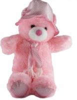 Gifts & Arts Cap Teddy Stuffed Plush Soft Toy Kids - 14.17 Inch (Pink)