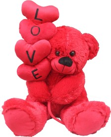Tipi Tipi Tap Soft Teddy With Love Hearts  - 45 cm
