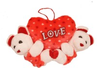 Lehar Toys Red Teddy  - 16 Cm (Red)