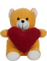 Giftwish Cute Teddy Bear With Heart  - 20 Cm (Yellow)