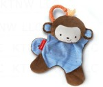 Fisher Price Soft Toys Fisher Price Cuddle Blankie Snugamonkey Blue