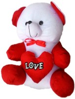 Crazivity Teddy Bear  - 40 Cm (Red, White)