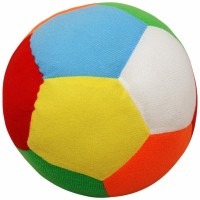 Awws & Wows Soft Ball With Rattle  - 5 Inch (Multicolor)