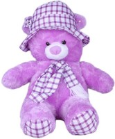 Ibaby Purple Caped Super Soft Teddy Bear  - 36 Inch (purple, Red)
