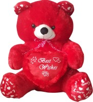 GRJ India 10 Inches Teddy Bear With Heart  - 10 Inch (Red)