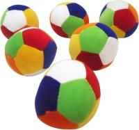 Taringo24h Coloured Balls Set Of 6  - 4 Inch (Multicolor)