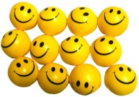 Coochiecoo Smiley Ball - Set Of 12  - 3 Inch (Yellow)
