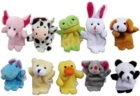 Phoenix Finger Puppets Set Of 10 - 3.5 Inch (Multicolor)