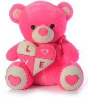 Funny Teddy Teddy Bear With Heart  - 36 Cm (pink)