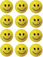 Bgroovy Smiley Face Squeeze Stress Ball - Set Of 12  - 3 Inch (Yellow)