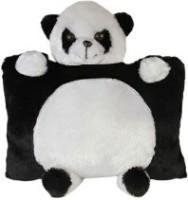 Ktkashish Toys Kashish Cute Panda & Panda Pillow 16 Inch  - 16 Inch (Black)