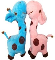 SCG Cute Small Combo Giraffe Soft Toy,High Quality  - 24 Cm (Blue, Pink)