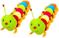 VRV Multicolor Catterpiller Toy 25cm Set Of 2  - 12 Cm (Multicolour)