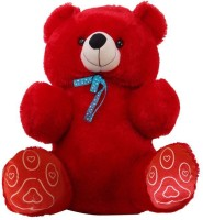 Coochie Coo Jumbo Teddy Bear 36 Inch Red  - 36 Inch (Red)