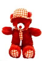 Ktkashish Toys Kashish Cute Red Cap Teddy Bear 70 Cm  - 27 Inch (Red)