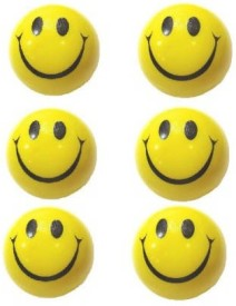 M Plus Smiley Squeeze Stress Ball - Set of 6  - 3 inch