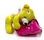 Soft Buddies Soft Toys Soft Buddies Bear on Heart Yellow 5.6 inch