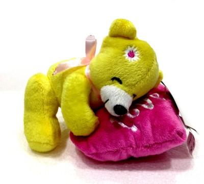 Soft Buddies Soft Buddies Bear on Heart, Yellow